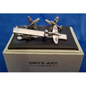 ONYX-ART CUFFLINK & TIE BAR SET – SPITFIRE