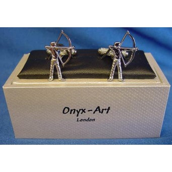 ONYX-ART CUFFLINK SET - ARCHER