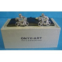 ONYX-ART CUFFLINK SET - CYCLIST
