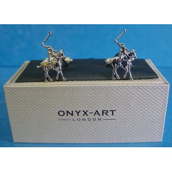 ONYX-ART CUFFLINK SET - POLO PLAYER