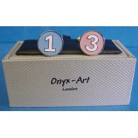 ONYX-ART CUFFLINK SET - POLO NUMBERS 1 & 3