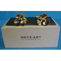 ONYX-ART CUFFLINK SET - PROPELLER