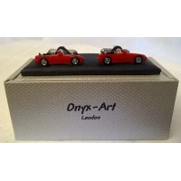ONYX-ART CUFFLINK SET - RED SPORTS CAR