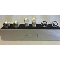 ONYX-ART CUFFLINK GIFT SET – MOTORING – SPORTS CAR, GEAR STICK & STEERING WHEEL