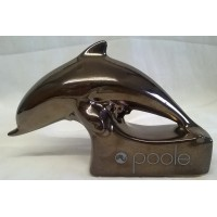 POOLE POTTERY ADVERTISING DISPLAY SIGN – PRECIOUS RANGE BRONZE METALLIC DOLPHIN