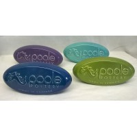 POOLE POTTERY ADVERTISING PEBBLE DISPLAY SIGNS – SET OF FOUR