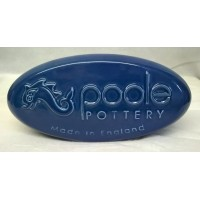 POOLE POTTERY ADVERTISING PEBBLE DISPLAY SIGN – BLUE