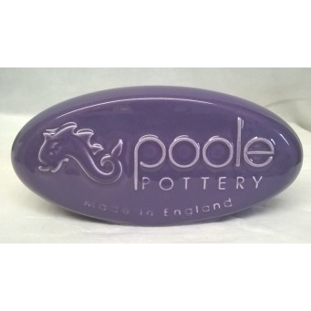 POOLE POTTERY ADVERTISING PEBBLE DISPLAY SIGN – LILAC