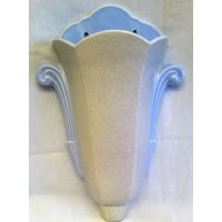POOLE POTTERY ART DECO SHAPE 526 WALL VASE – C83 SEAGULL & SKY BLUE