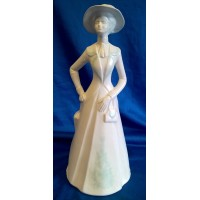 POOLE POTTERY ELEGANCE LADY FIGURINE – VICTORIA – VERY RARE FACTORY TRIAL PIECE