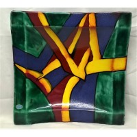 POOLE POTTERY LIVING GLAZE - GRAFITTI 42cm SQUARE GIORGI PLATTER