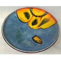 POOLE POTTERY LIVING GLAZE - WILD POPPY 27.5cm BOWL