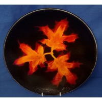 POOLE POTTERY FOREST FLAME 26.5cm WALL DISPLAY CHARGER DISH