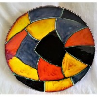 POOLE POTTERY MOSAIC 40cm WALL DISPLAY CHARGER DISH