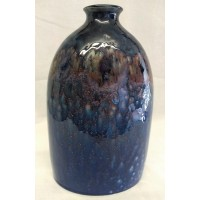 POOLE POTTERY STUDIO CELESTIAL 23cm BOTTLE VASE – ALAN CLARKE FACTORY TRIAL
