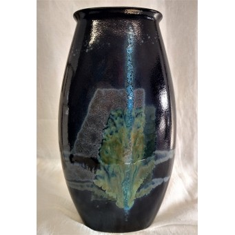 POOLE POTTERY STUDIO CELESTIAL 25cm MANHATTAN VASE – ALAN CLARKE FACTORY TRIAL