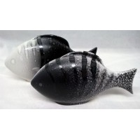 POOLE POTTERY FISH – AURA DESIGN TWO PIECE SET (A)