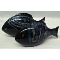 POOLE POTTERY FISH – CELESTIAL DESIGN TWO PIECE SET (B)