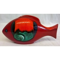 POOLE POTTERY FISH – VOLCANO DESIGN BIG FISH (E)
