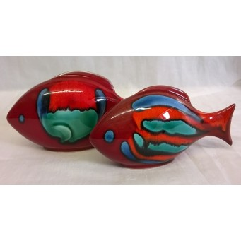 POOLE POTTERY FISH – VOLCANO DESIGN TWO PIECE SET (C)