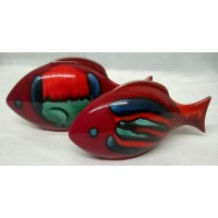 POOLE POTTERY FISH – VOLCANO DESIGN TWO PIECE SET (D)