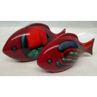 POOLE POTTERY FISH – VOLCANO DESIGN TWO PIECE SET (F)