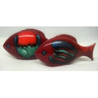 POOLE POTTERY FISH – VOLCANO DESIGN TWO PIECE SET (G)