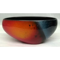 POOLE POTTERY STUDIO ALAN CLARKE FLARE DESIGN ASYMMETRICAL BOWL