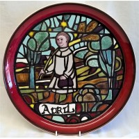 POOLE POTTERY STUDIO MEDIEVAL CALENDAR PLATE – APRIL – Ltd Edition 133/1000