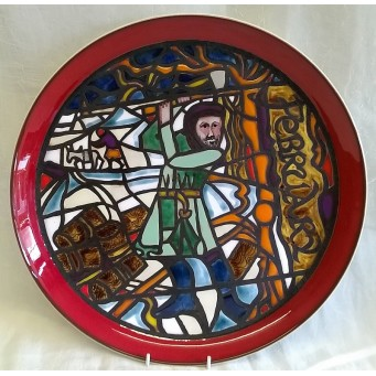 POOLE POTTERY STUDIO MEDIEVAL CALENDAR PLATE – FEBRUARY – Ltd Edition 268/1000