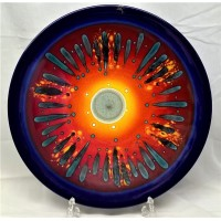 POOLE POTTERY STUDIO LIMITED EDITION THIRD MILLENNIUM 40.5cm CHARGER DISH by ALAN CLARKE