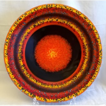 POOLE POTTERY STUDIO PLANETS COLLECTION - SATURN 41cm CHARGER DISH