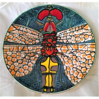 POOLE POTTERY STUDIO TONY MORRIS DRAGONFLY 41.5cm CHARGER DISH