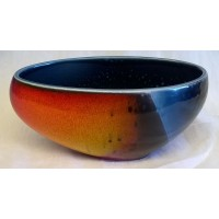 POOLE POTTERY STUDIO ALAN CLARKE FLARE DESIGN TRIAL BOWL