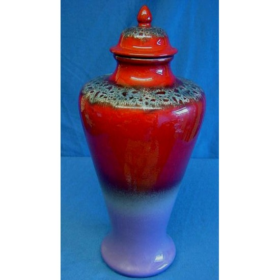 Poole Pottery Ruskin Covered Vase