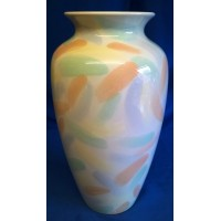 POOLE POTTERY ABSTRACT PASTEL BRUSH STROKES PATTERN 26cm ATHENS VASE