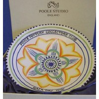 POOLE POTTERY STUDIO COLLECTORS CLUB GALA DAY 1995 FOOTED BOWL