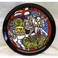 POOLE POTTERY STUDIO ST GEORGE & THE DRAGON PLATE