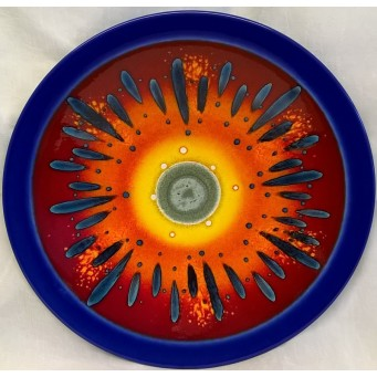 POOLE POTTERY STUDIO LIMITED EDITION THIRD MILLENNIUM 40.5cm WALL DISPLAY CHARGER DISH