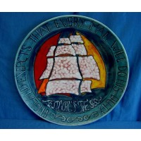 POOLE POTTERY LIMITED EDITION TRAFALGAR WALL DISPLAY CHARGER DISH