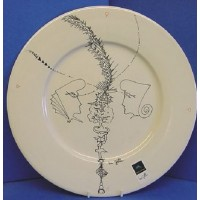 POOLE POTTERY STUDIO URI GELLER FACES OF THE UNIVERSE LTD EDITION WALL DISPLAY PLATE