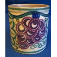 POOLE POTTERY TRADITIONAL TR GRAPES PATTERN  JAM POT BASE – ETHEL BARRATT