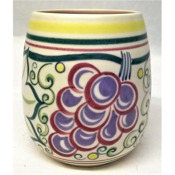 POOLE POTTERY TRADITIONAL TR GRAPES PATTERN SHAPE 287 POT – GWEN HASKINS