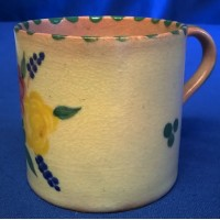 POOLE POTTERY TRADITIONAL BF PATTERN COFFEE CUP – MARGARET HOLDER