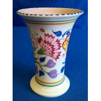 POOLE POTTERY TRADITIONAL BN PATTERN MINIATURE TRUMPET VASE – JEAN COCKRAM