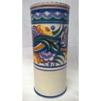 POOLE POTTERY TRADITIONAL CO PATTERN ART DECO DESIGN SHAPE 207 25cm VASE – EILEEN PRANGNELL