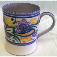 POOLE POTTERY TRADITIONAL CO PATTERN ART DECO DESIGN SHAPE 332 TANKARD OR MUG – NELLIE BISHTON (BLACKMORE)