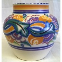 POOLE POTTERY TRADITIONAL CO PATTERN ART DECO DESIGN SHAPE 959 11.5cm VASE – EILEEN PRANGNELL