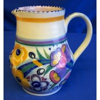 POOLE POTTERY TRADITIONAL ED FUSCHIA PATTERN SHAPE 604 JUG – HILDA TRIM