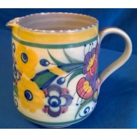 POOLE POTTERY TRADITIONAL ED FUSCHIA PATTERN JUG – MARGARET HOLDER